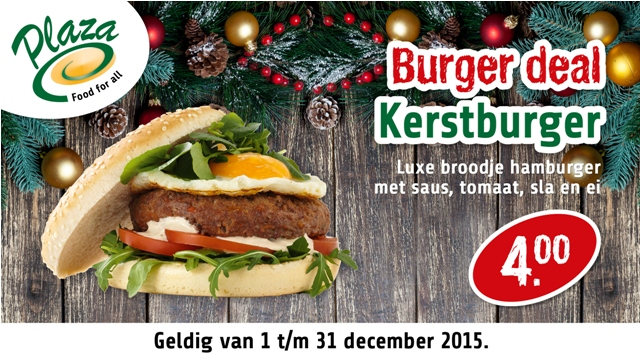 hamburger menu kerst deal plaza heerhugowaard