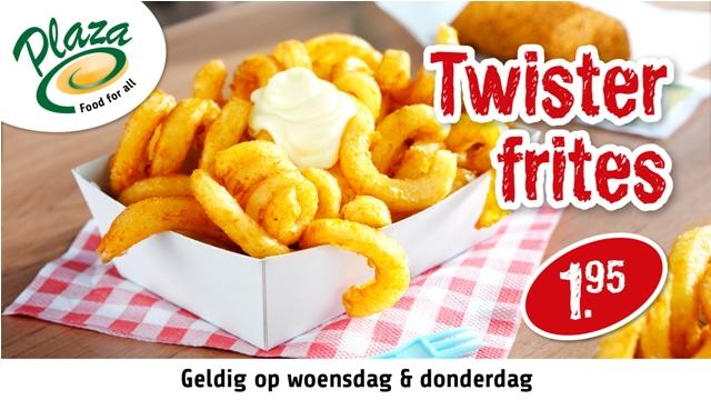 twister frites by plaza heerhugowaard actie.